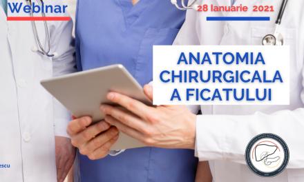 Workshop online ARCHBPTH: Anatomia chirurgicală a ficatului