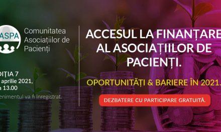 Întâlnirea Comunității CASPA.ro: Discutăm despre accesul la finanțare al asociațiilor de pacienți