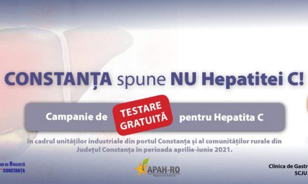 """""""Constanța spune NU hepatitei C"""", proiect lansat de Clinica de Gastroenterologie a Spitalului Județean"""