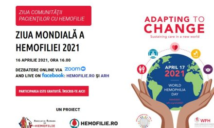 Află poveștile campionilor comunității internaționale de hemofilie la întâlnirea de vineri, 16 aprilie 2021