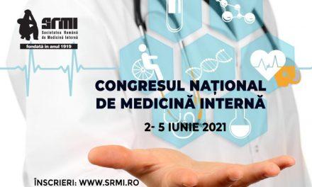 Congresul Național de Medicină Internă are loc în perioada 2-5 iunie, online