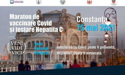 Maraton de vaccinare anti-Covid și de testare pentru virusul hepatitei C sâmbătă, pe promenada Cazinoului Constanța